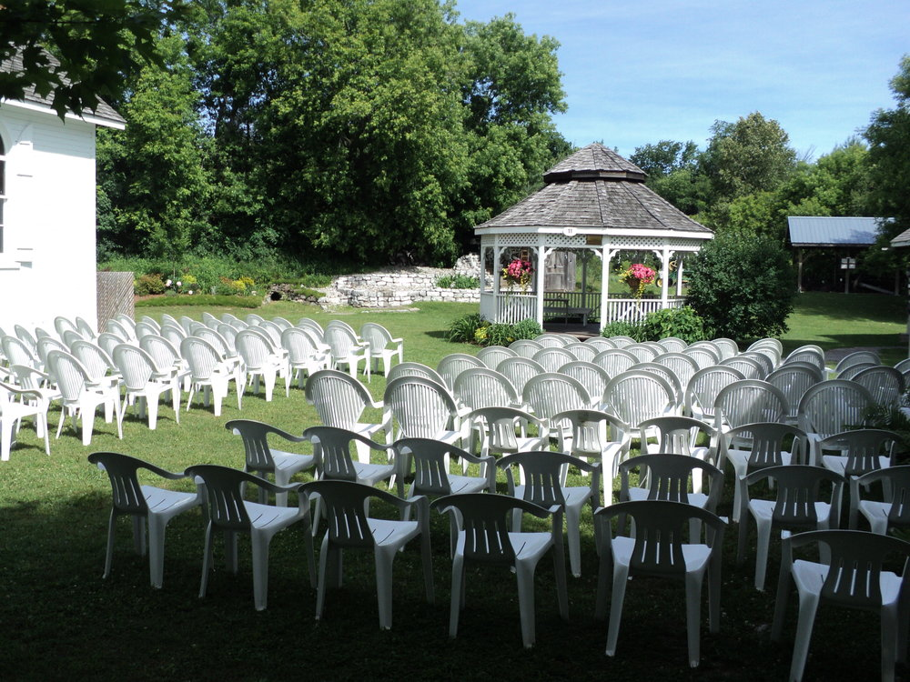 Outdoor Ceremony - If an outdoor location is more your style, the Gazebo, which is surrounded by beautiful gardens, offers a great backdrop. Capacity: 150