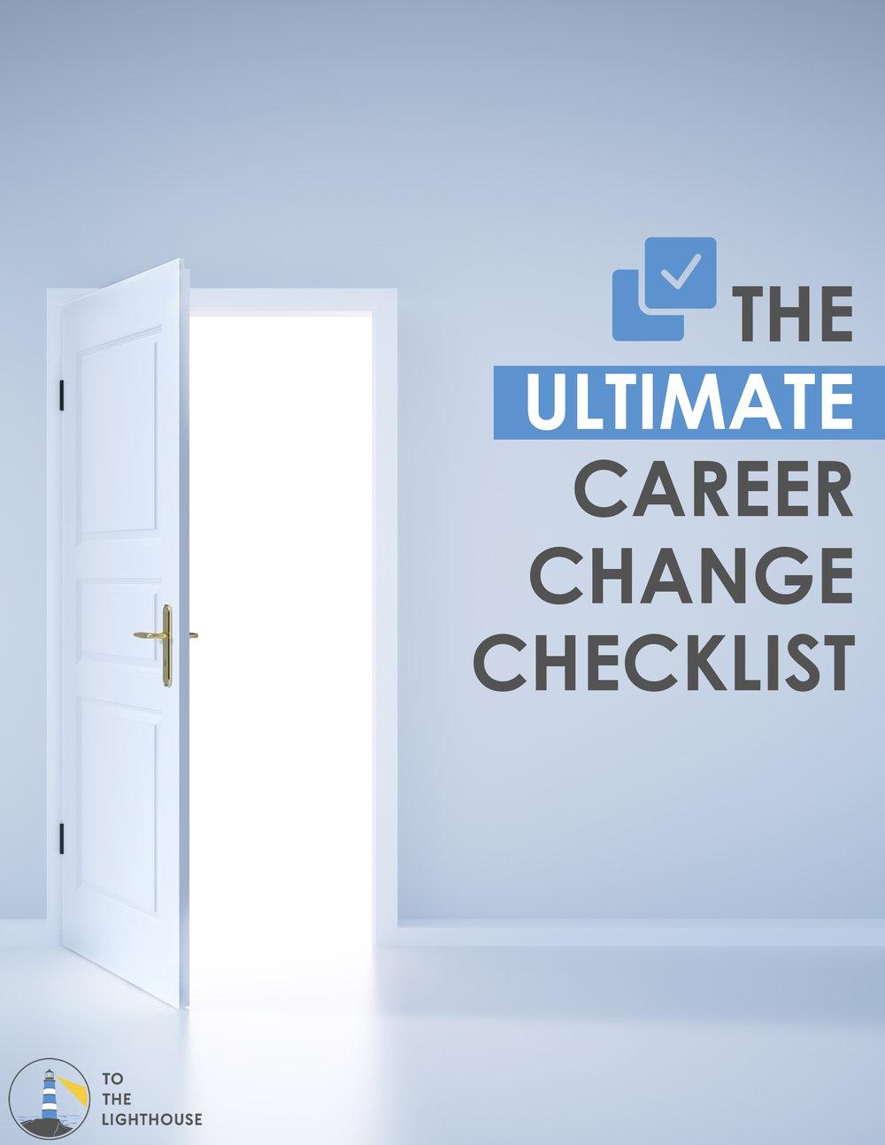 Career change check list