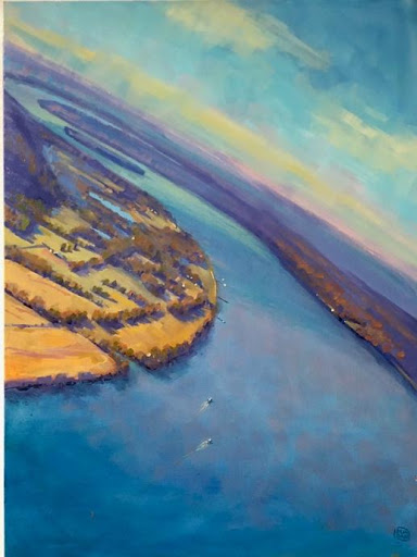 "Artist: Lynn Dunbar ""Horseshoe Bend, Leavenworth"""