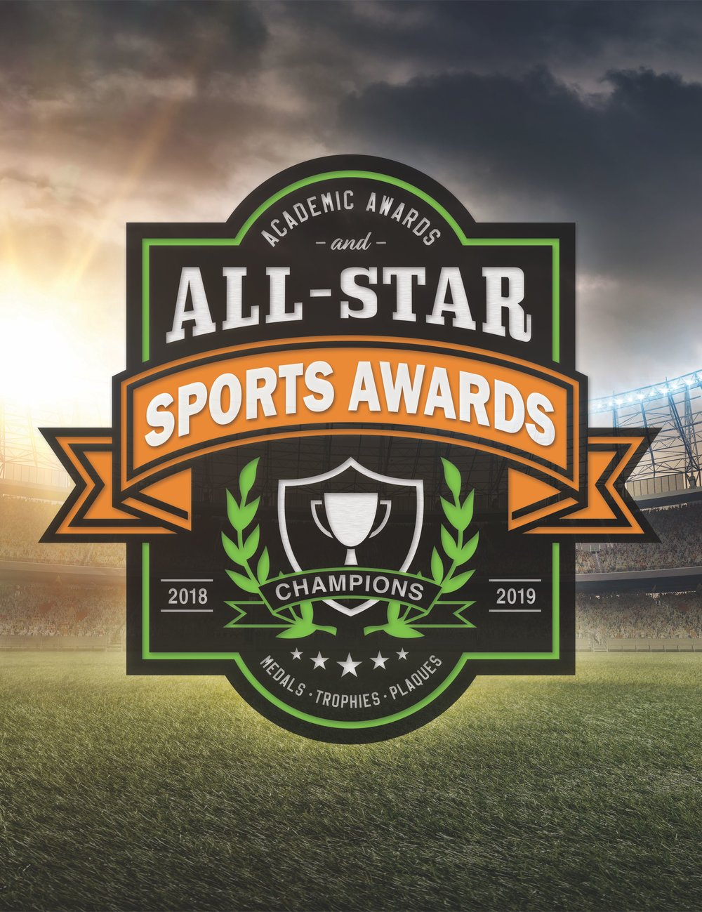 Click to browse our academic awards and all-star sports awards digital catalog
