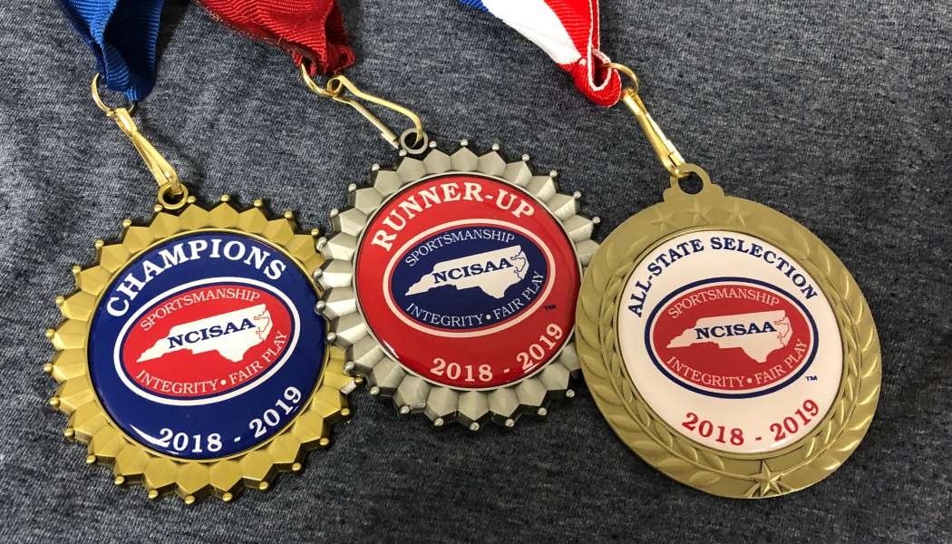 Custom Medals For The North Carolina Independent Schools