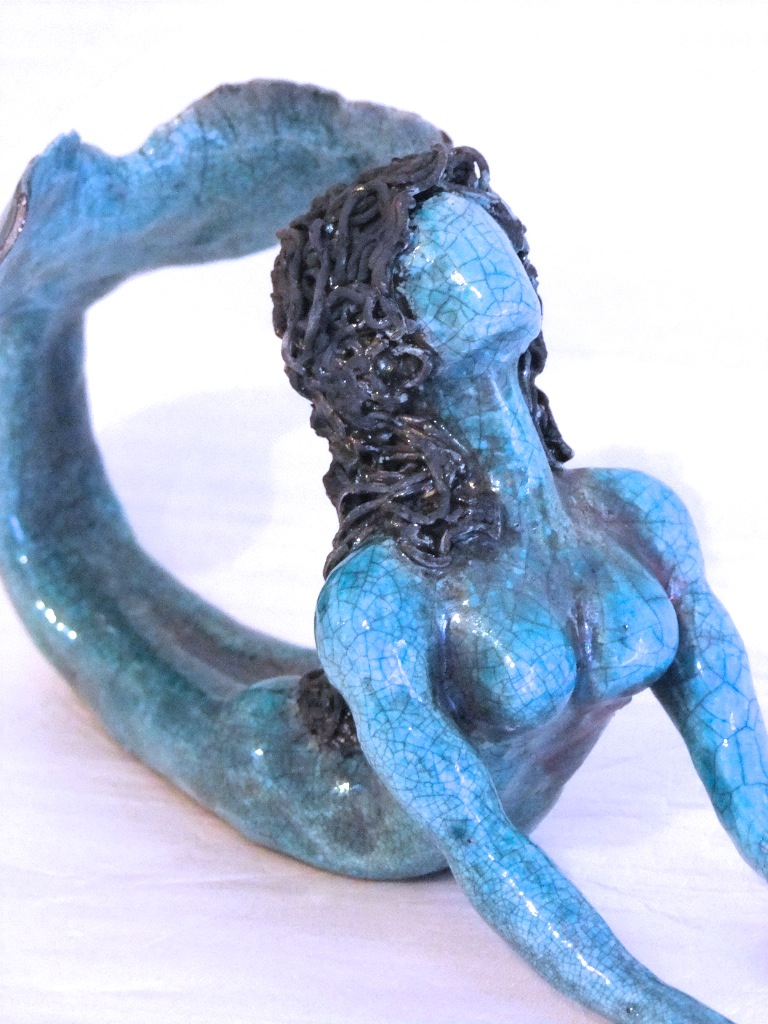 """The Siren""   Paper Clay - Turquoise Glaze"