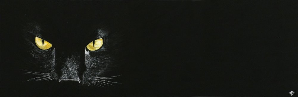 """""""Out of the Darkness""""   Original - £300 -   Sold    Image 55 x 18 cm  Signed Print £35"""