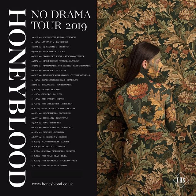 🌱U.K! Join me on The No Drama tour! Full tour dates and tickets now at : www.honeyblood.co.uk 🌱 #nodramatour