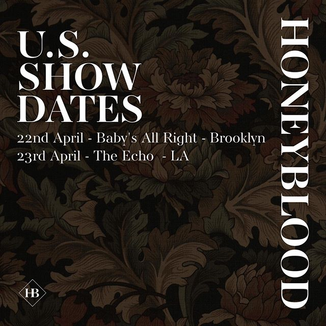 USA 🇺🇸🌱 see you very soon for some special shows. 🌱 22 April - @babysallright // 23 April - @theechola. Tickets available at www.honeyblood.co.uk 🌱 #nodramatour