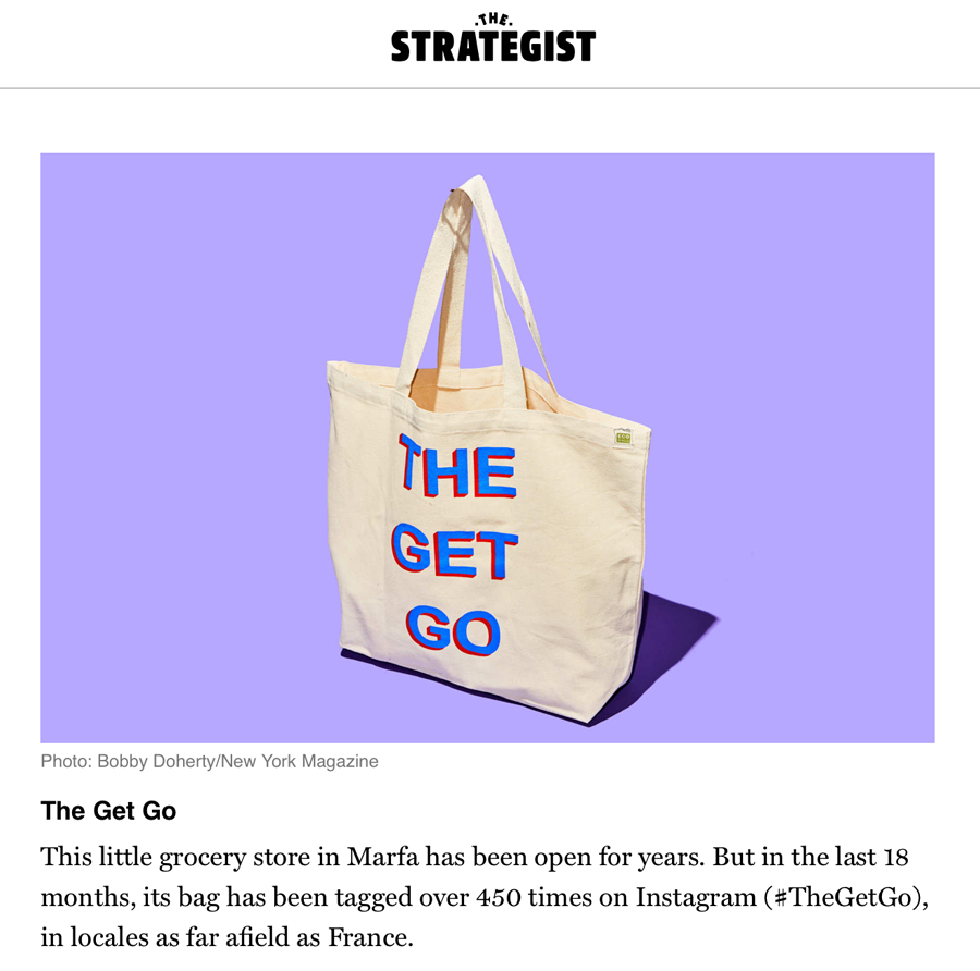 The Get Go Marfa Tote