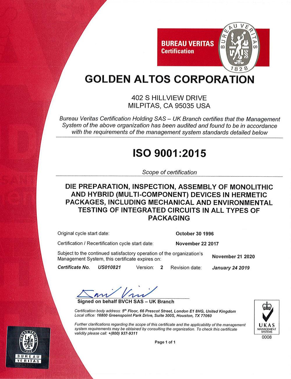 Golden Altos Corporation ISO 90012015 Certificate.jpg
