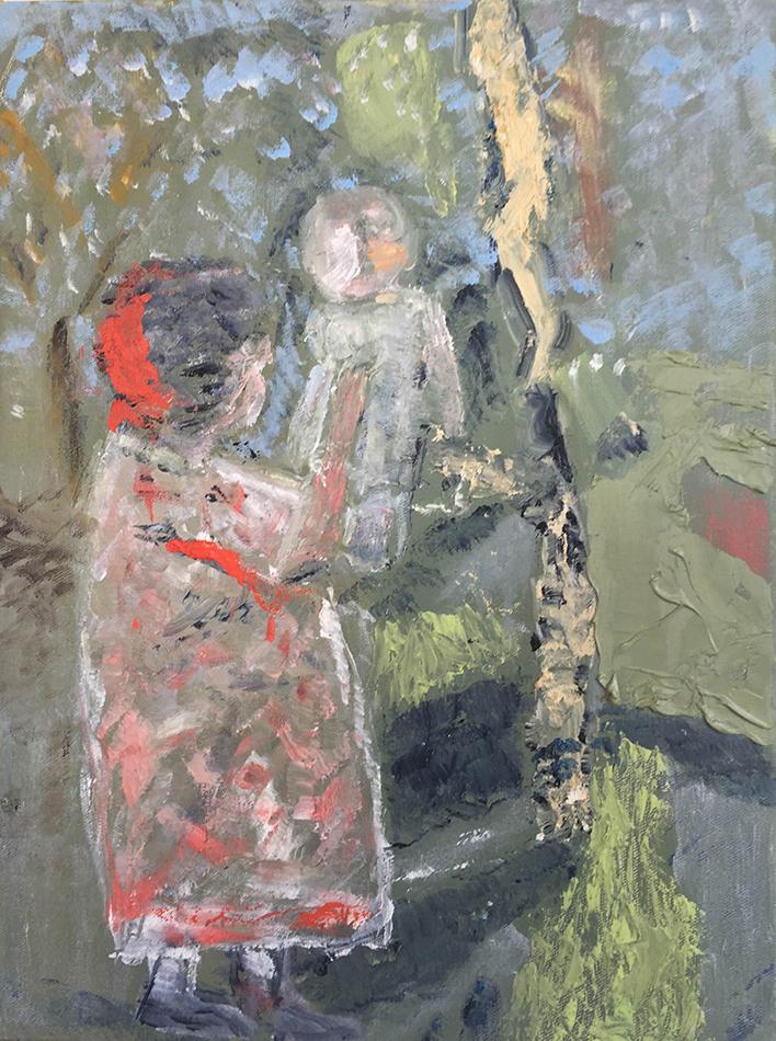 """Sunday House , 16 x 12"""", oil on canvas, 2016"""