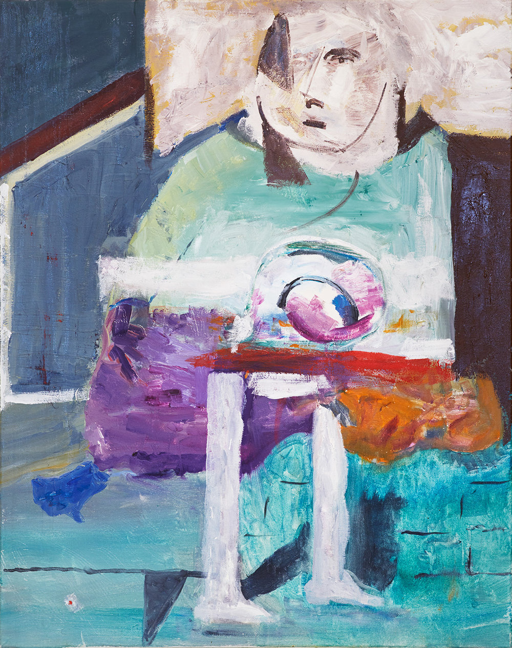 "Edna , 24 x 30"", oil on canvas, 2016"