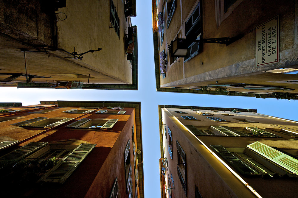 Four corners of buildings looking up.jpg