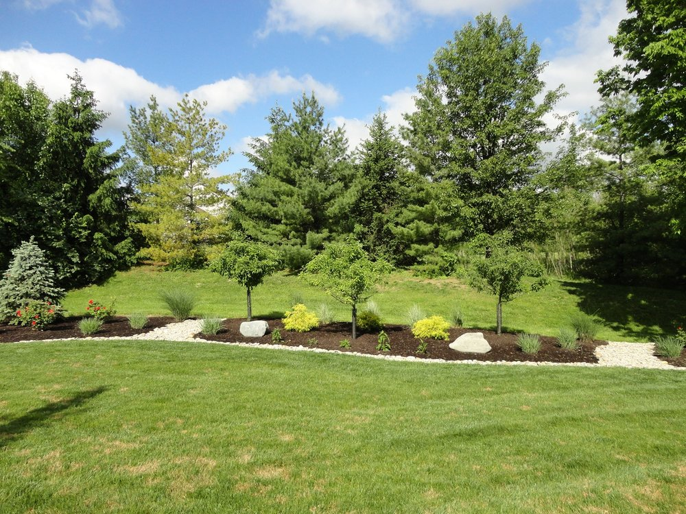 Landscape design with beautiful outdoor living area in West Chester, OH