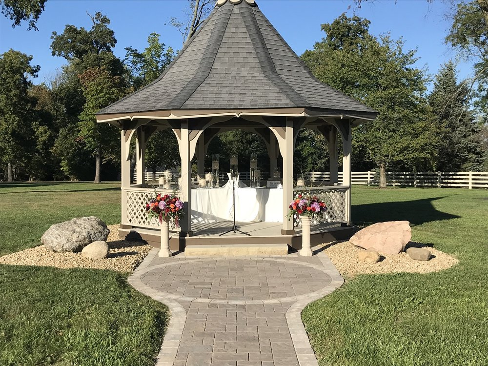 Beautiful landscape design with gazebo in West Chester, Ohio