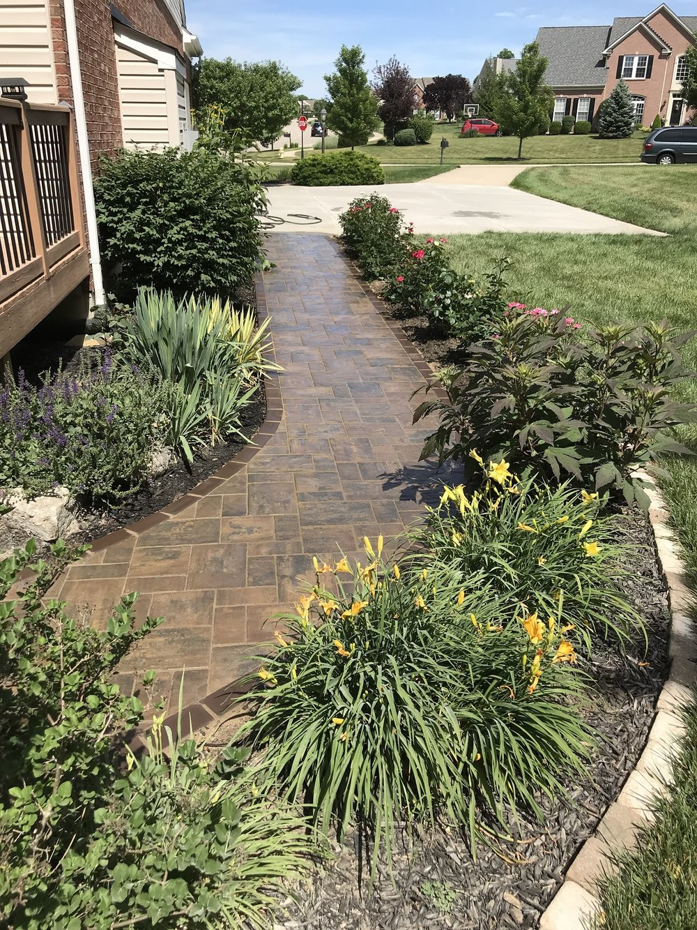 Paver walkway in West Chester, OH