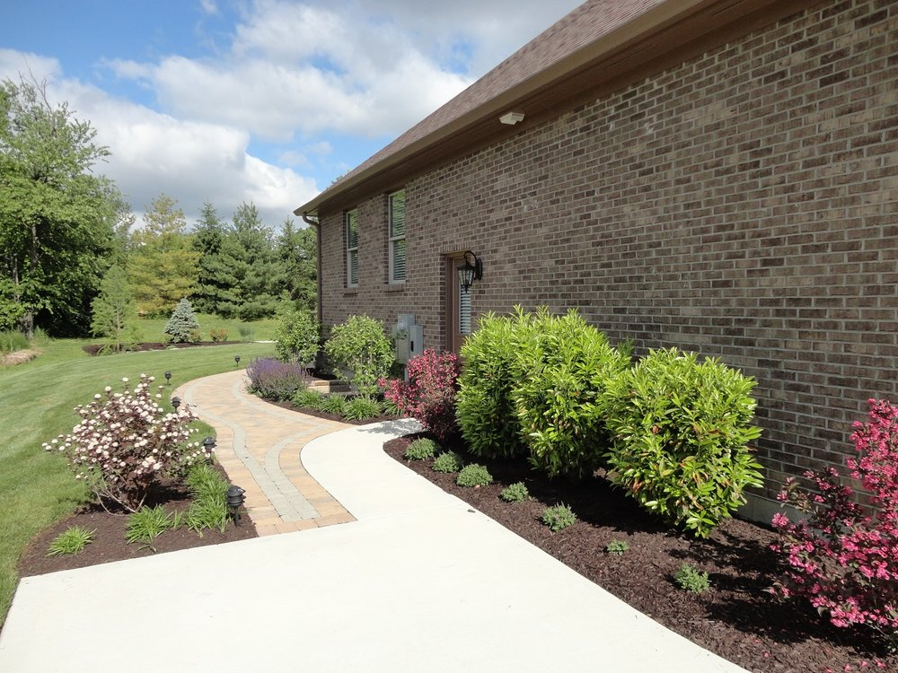 Driveway and walkway installation in West Chester, Ohio