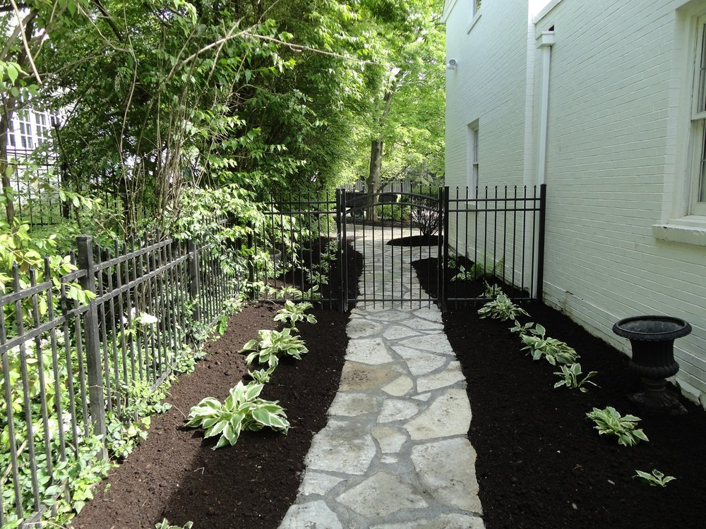 Beautiful natural stone walkway in West Chester, OH