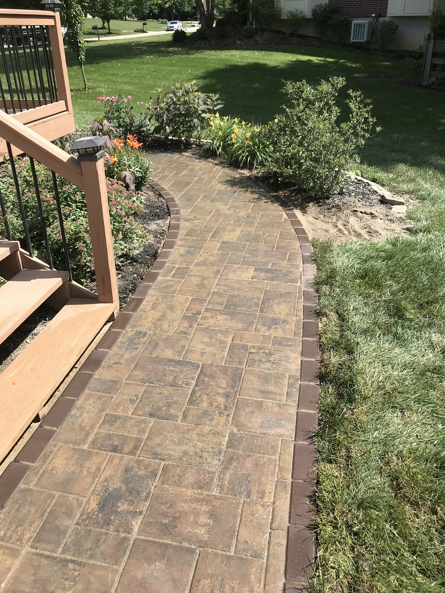 West Chester, Ohio landscaping services, including walkway installation