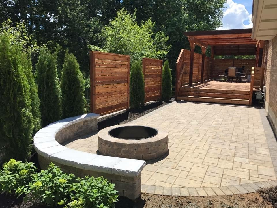 Paver patio with pergola in West Chester, OH