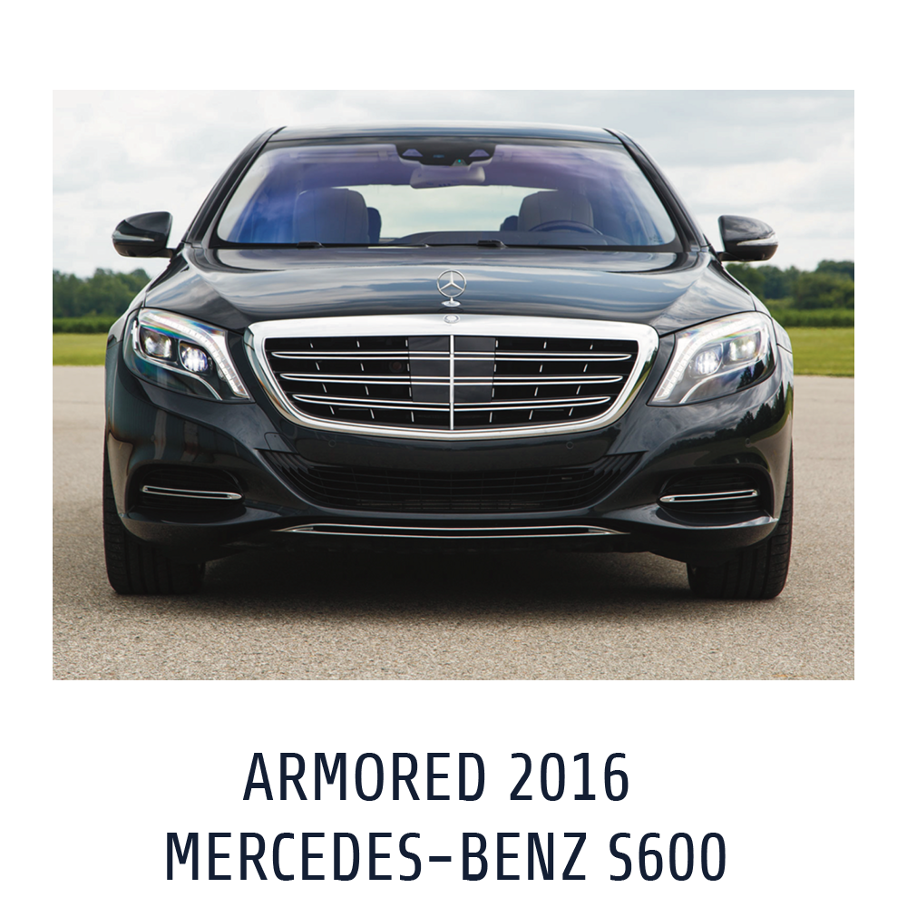 Armored 2016 Mercedes s600