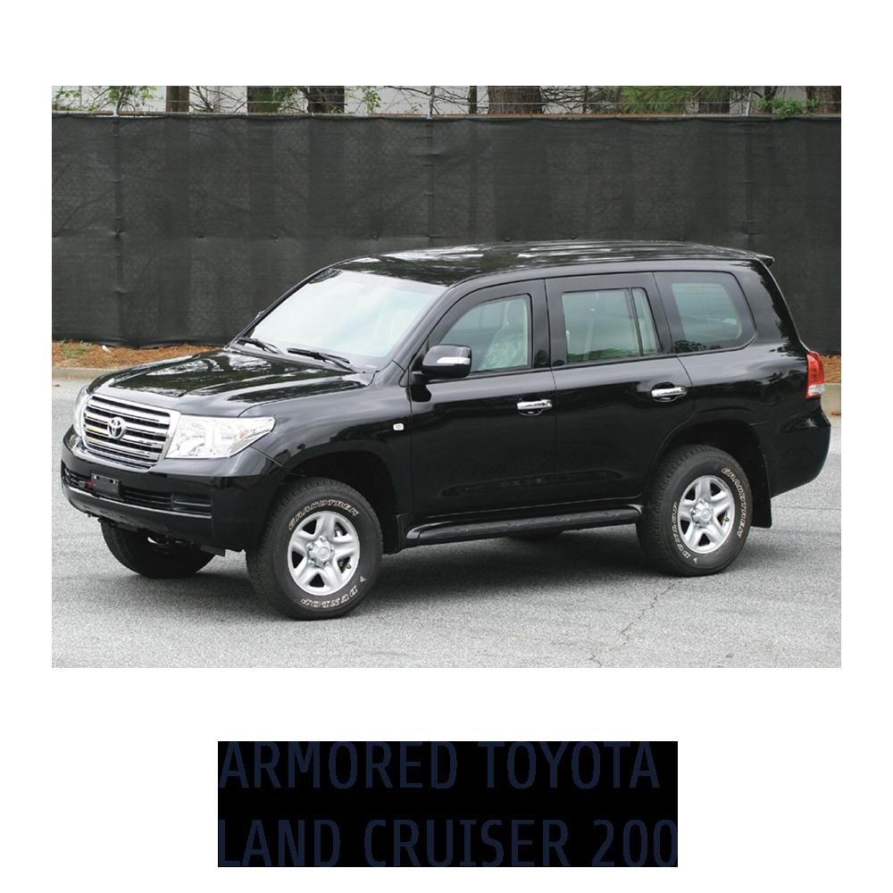 Armored Toyota Land Cruiser 200