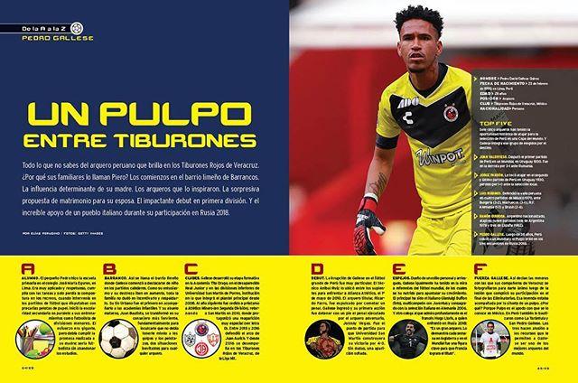 """El portero peruano @pedrogallese1 se convierte en el protagonista de la histórica sección """"De la A a la Z"""". Conoce las mejores anécdotas y curiosidades en nuestra edición lanzamiento . . . . . . . . Encuentra la nota completa en nuestra biografía  #gallese #peru #portero #pulpo #piero #tiburones #veracruz #ligamx #mexico #futbol #vida #elgrafico #revista #magazine #usa #canada"""