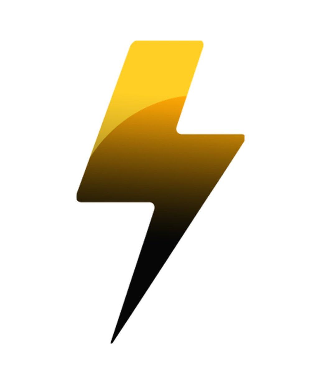 Logo conçu pour une plateforme d'informations en temps réel - Dans le logo, la foudre représente l'instantaneité et la rapidité à fournir des informations par la plateorme ainsi que le