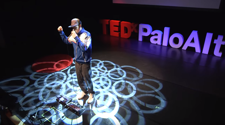 Performing at TEDx Palo Alto.