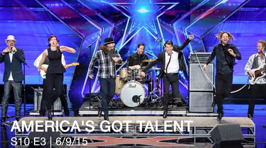 On tour with Rhythmic Circus on NBC's America's Got Talent.