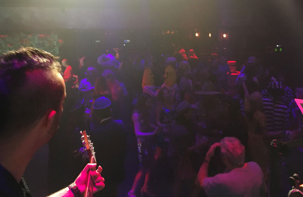 View from the stage at the Marquee Club in New York City.