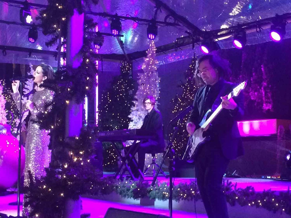 Dexter Lake Club Band with Sarah McLachlan for NBC Rockefeller Center Christmas Tree Lighting special.