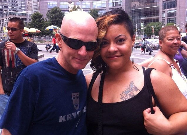 July 2014, New York City Body Painting Day. Craig Tracy & I