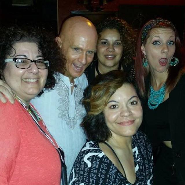 Hanging out with some of the best at the Flesh Art Show, 2015 ! (left to right; Margie Nugent, Craig Tracy, Gina Velasquez, Brittany Pelloquin and me)