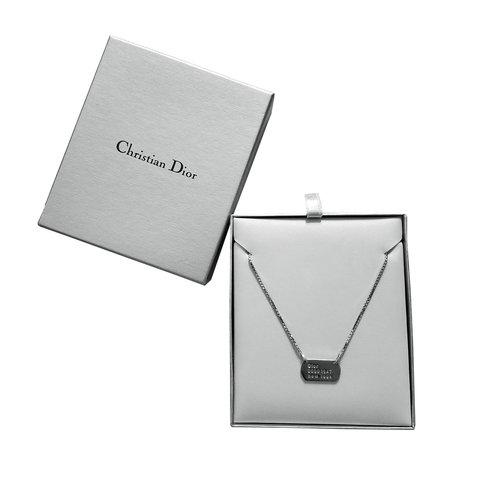 0a02e7fa8db53e Dior Mini Dog Tag Necklace — sickboyarchive.