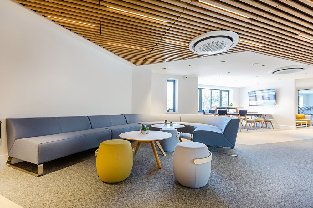 OFFICE LIGHTING FOR A HIGH-SPEC TURN-KEY FITOUT. - AERIAL DIRECT, FAREHAM.