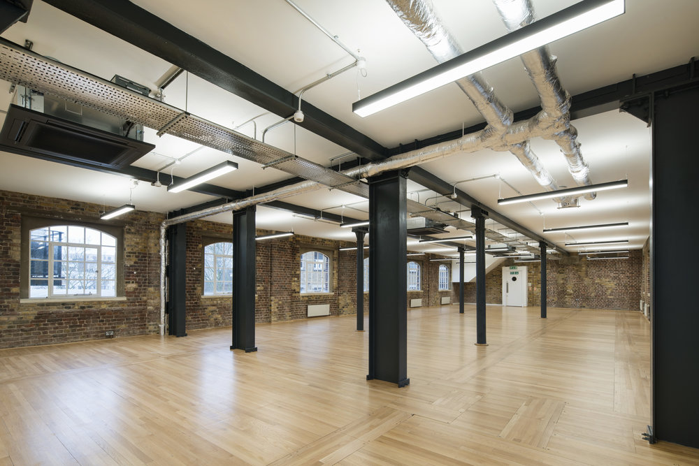 LIGHTING FOR INDUSTRIAL STYLE CAT A FIT-OUT. - LITTLE LONDON, LONDON.