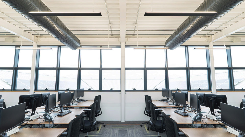 OFFICE LIGHTING SCHEME USING INDIRECT LIGHTING ONLY -