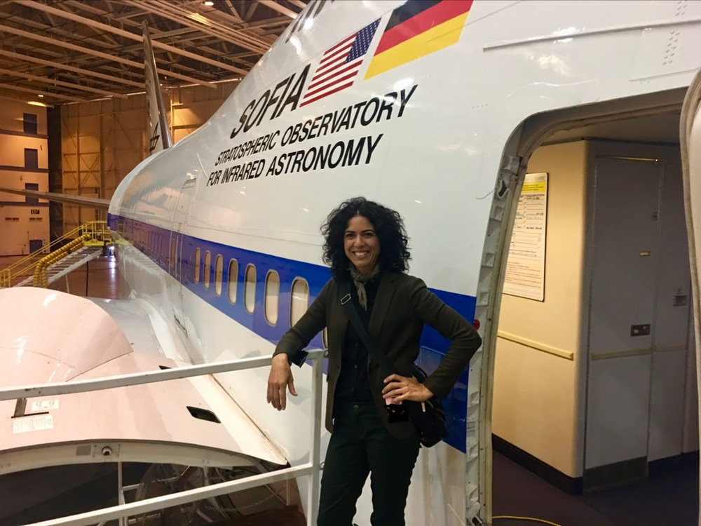 ARTIST SHANA MABARI FLIES WITH NASA ON SOFIA