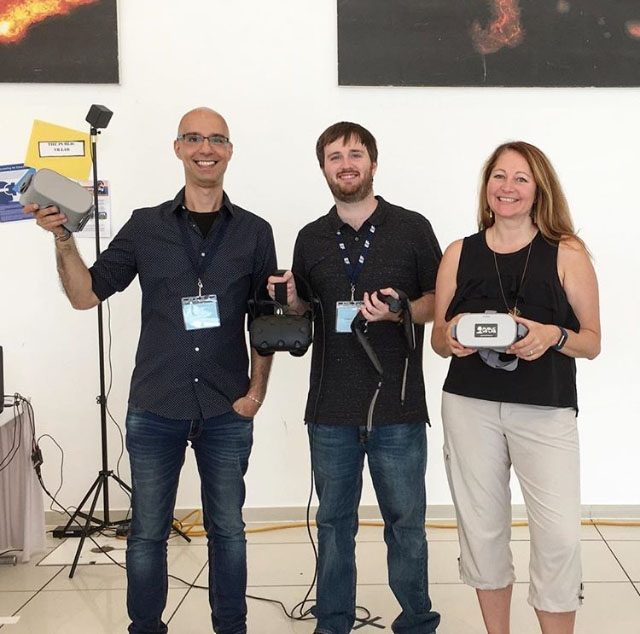 Trainers from the Public VR Lab - Last summer our team traveled to Berlin, Germany to train high school leaders on VR Storytelling with our partner, Education First!