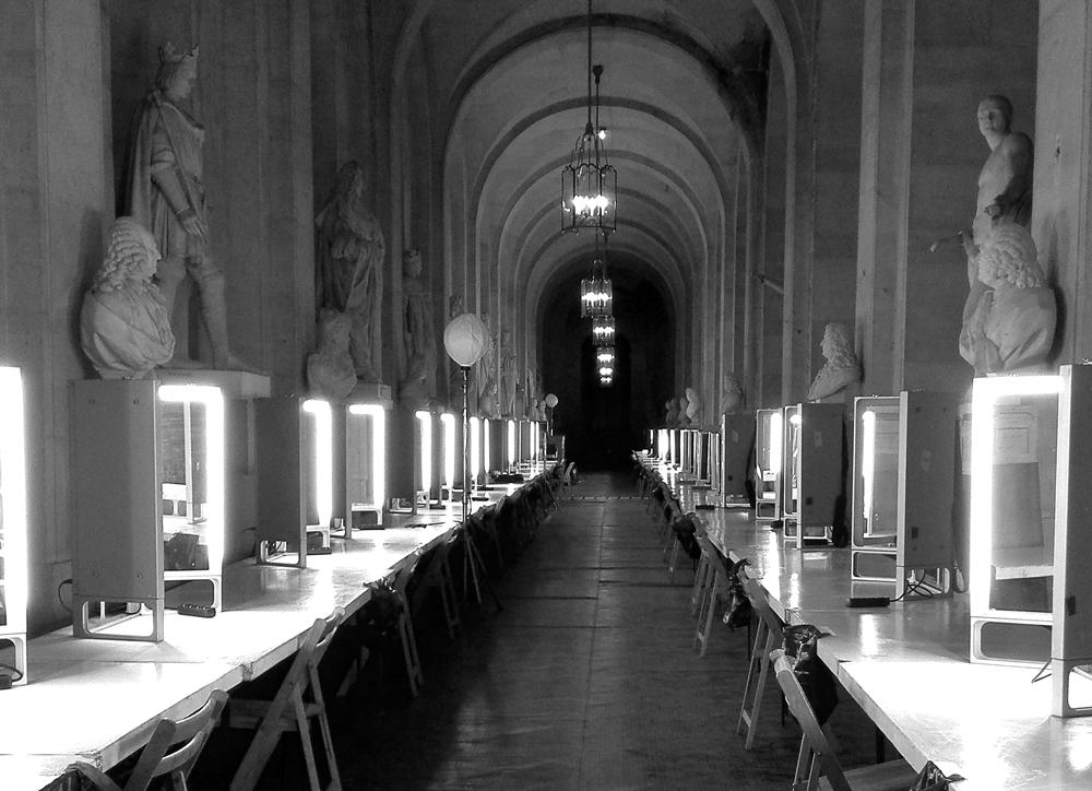 la glace maquillage Nestor location en tournage à Versailles