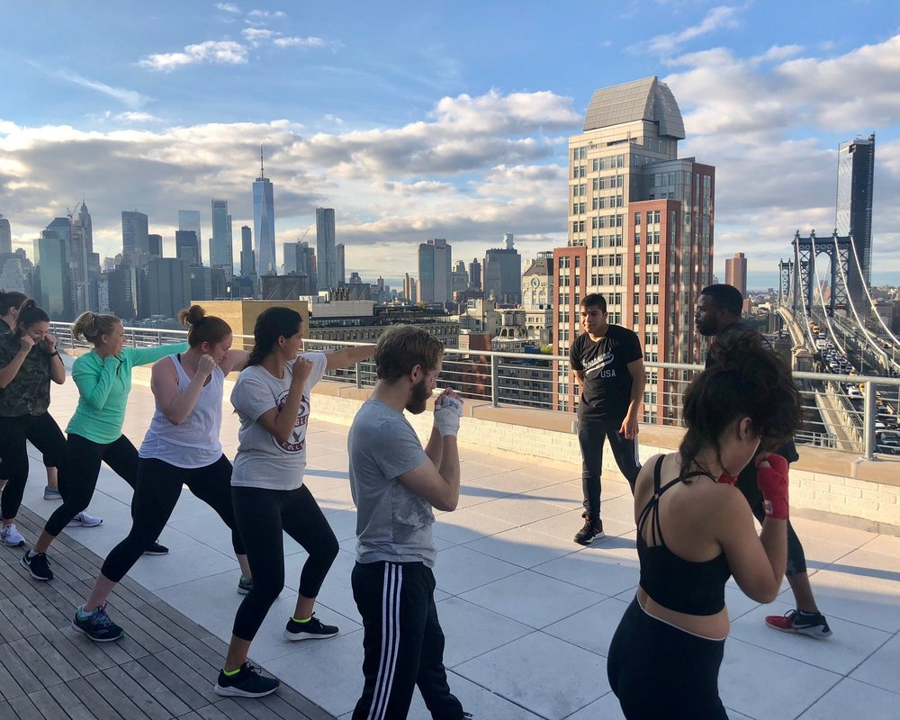 Ironbound Boxing Corporate Fitness Rooftop