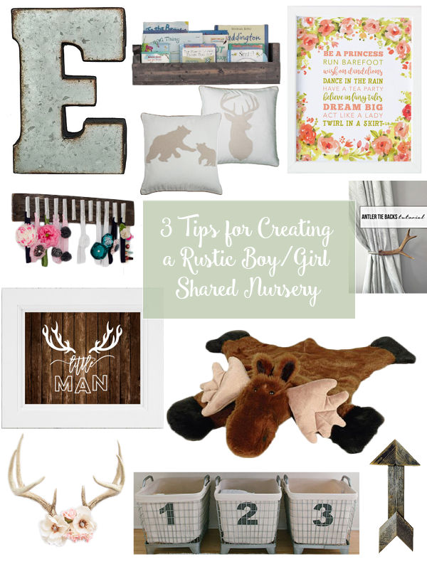 I'm having my toddler boy and baby girl share a room and finding the right balance of manly and feminine decor has been hard, but it's not impossible! Click through to see my tips for creating a rustic nursery fit for a boy and a girl!