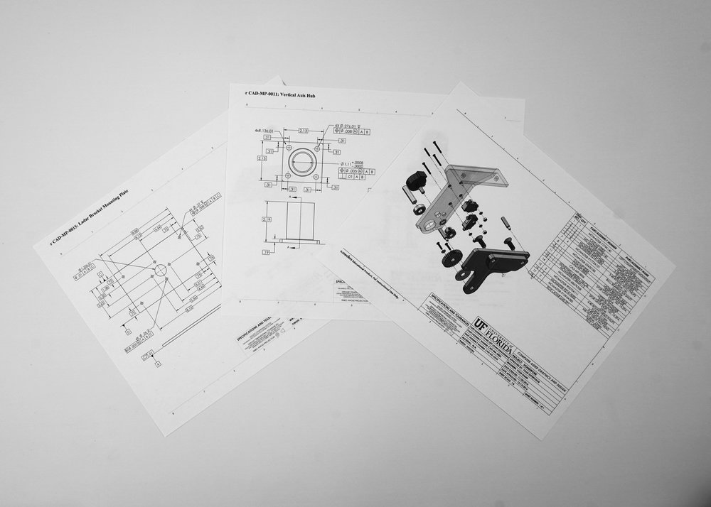 Manufacturing Drawings - Once the design and virtual testing are completed, all models are updated and technical drawings are created. These drawings provide the blueprints for mass production by us or your selected manufacturer. The drawings also serve as effective references for patent applications.