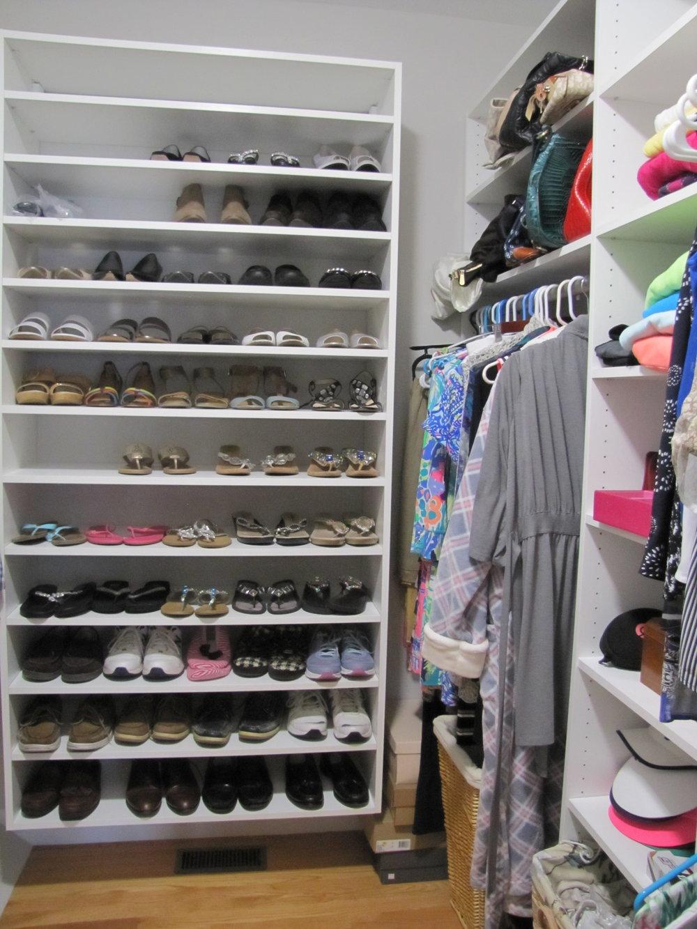 White Shoe Shelving