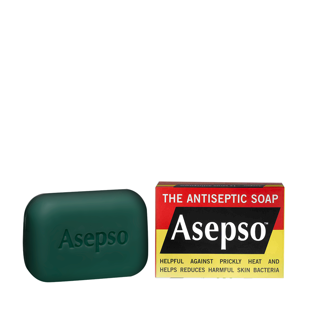 ORIGINAL - This is the original and unique antiseptic formulated bar soap proven to help eliminate odour causing bacteria and dirt.Its single active anti-bacterial agent formulation is trusted for over a century as the original soap that is helpful against prickly heat and reduces harmful skin bacteria.Available in 80G