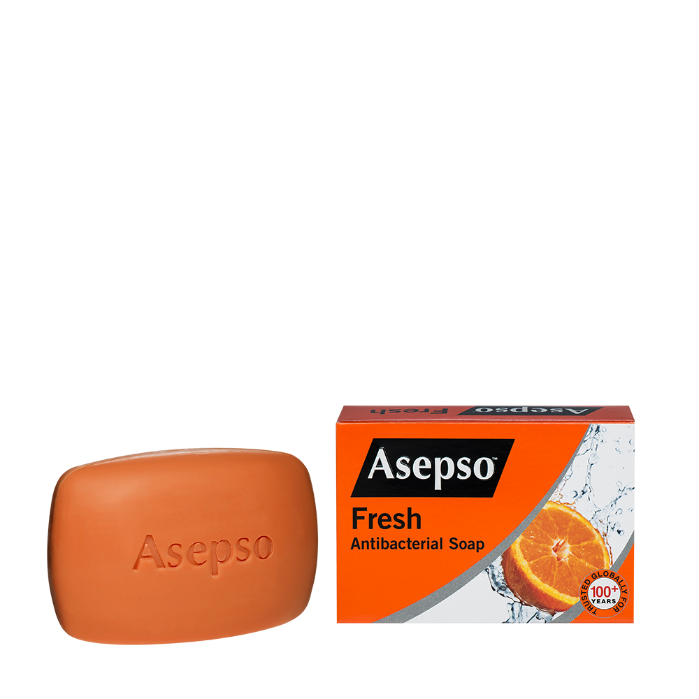 FRESH - It contains citrus and antibacterial agent with moisturiser that helps fight and prevent the spread of harmful germs, while leaving your skin fresh and smooth.Available in 70G, 150G