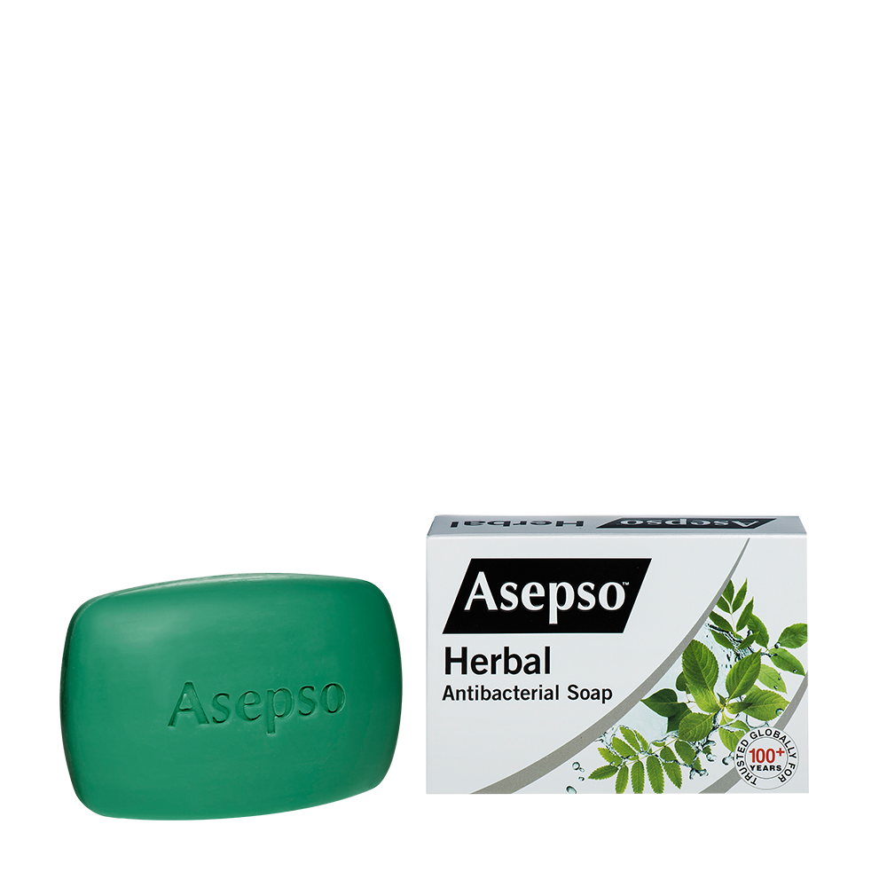HERBAL - It contains Eucalyptus and blended natural herbal antibacterial agents with moisturiser that helps fight and prevent the spread of harmful germs, while leaving your skin moisturised and silky smooth.Available in 70G,80G, 150G