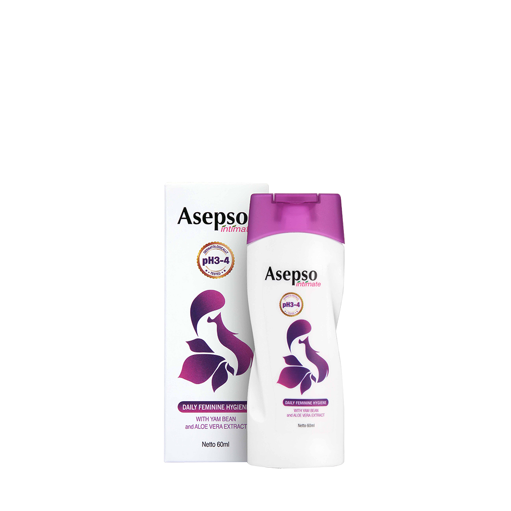 INTIMATE WASH - Launched in 2018 with huge success, Asepso Daily Feminine Hygiene Intimate is another new range under ASEPSO after intensive product development and market research , it is is a mild formula with pH adjusted to 3.8 to help and maintain a healthy mirco-flora balance in female intimate areas as alkaline soaps can disturb or eliminate normal flora resulting in fungal and bacterial infections that cause itchiness and unpleasant odours .Available in 60ml