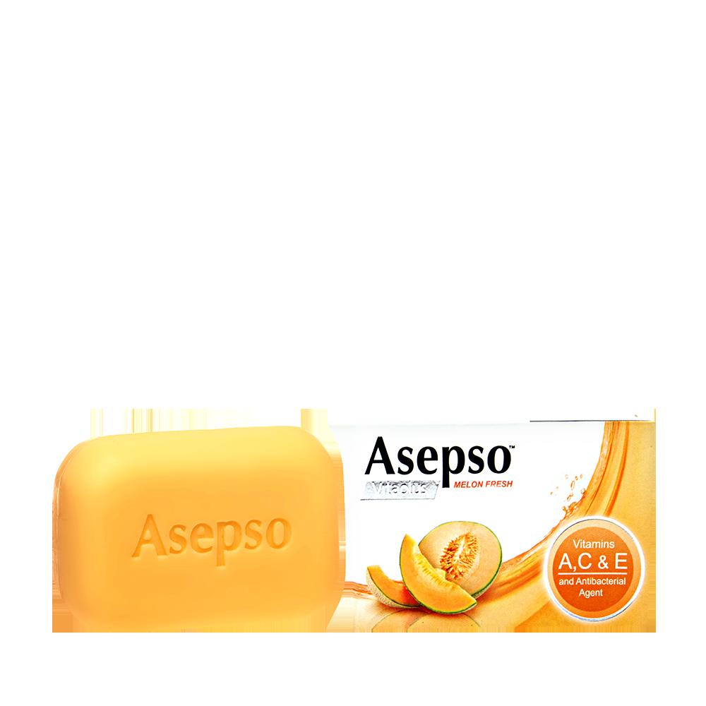Melon Fresh Bar Soap - Vitamins A for anti-agingVitamin C to brighten skinVitamin E for nourishment and moisture Fortified with Melon Extracts