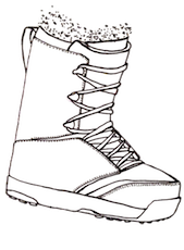 Gold Snow snowboard boot