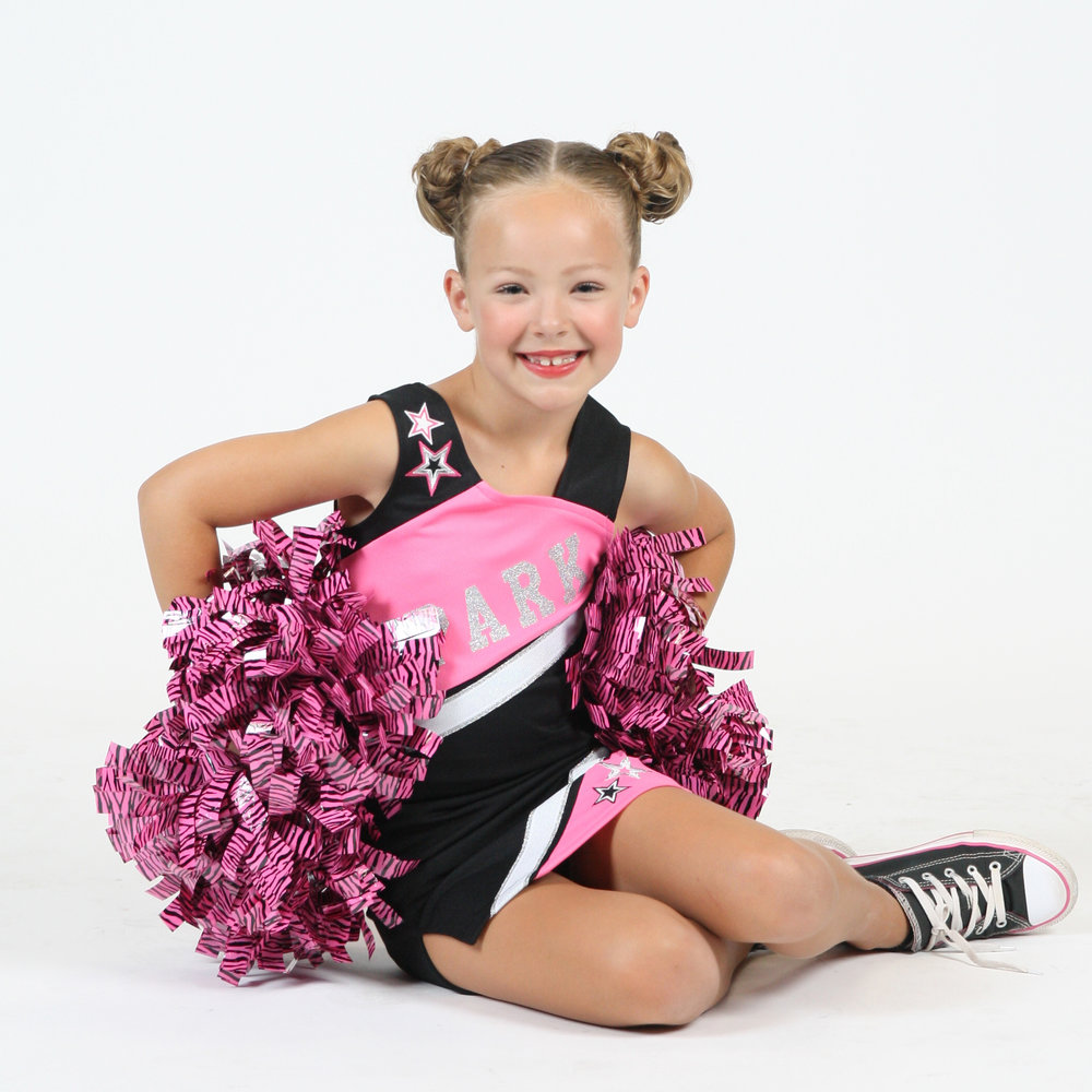 Cheer & Tumbling - Ages 6+. Proper and safe tumbling technique will be taught, enabling students to progress into more advanced tumbling skills. Students will also learn cheerleading basics, including arm motion techniques, proper posture, jumps and kicks. Dancers will learn an upbeat Pom routine that will showcase their tumbling skills.
