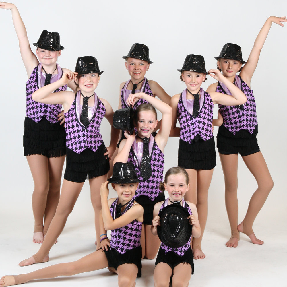 Jazz - Ages 5+ Our jazz classes enrich and extend students' technical skills through center and progression work with lively, upbeat movement.